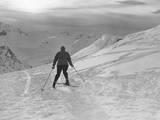 Downhill Skier Photographic Print by William Vanderson