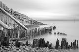 Sea Defences at Porlock Weir, Somerset, UK Photographic Print by Nick Cable