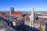 Aerial of Munich in Beautiful Weather Photographic Print by Jorg Hackemann