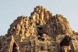 Giant Carved Stone Faces at Bayon Temple Photographic Print by Alex Linghorn