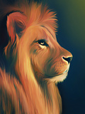 Lion Illustration Fotodruck von Illustration by Shannon Posedenti