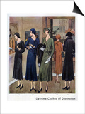 Vogue Pattern Book, Magazine Plate, UK, 1930 Poster