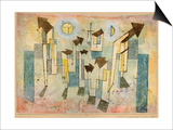 Wall Painting from the Temple of Longing Thither, 1922 Prints by Paul Klee