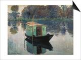 Monet's Studio-Boat, 1874 Posters by Claude Monet