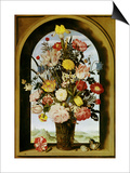 Vase with Flowers in a Window, about 1618 Posters by Ambrosius Bosschaert