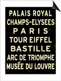 Paris Sign Poster