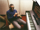 Ray Charles in the Recording Studio Prints