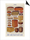 Cheese, Isabella Beeton, UK Print
