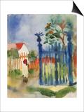 Garden Gate, 1914 Prints by Auguste Macke