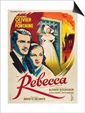 Rebecca, 1940, Directed by Alfred Hitchcock Posters