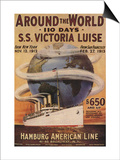 Hamburg American Line, Magazine Plate, USA, 1912 Print