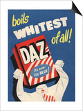 Washing Powder Products Detergent, UK, 1950 Poster