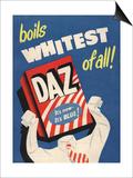 Washing Powder Products Detergent, UK, 1950 Poster