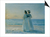 Two Women on the Beach at Skagen, 1908 Prints by Michael Peter Ancher