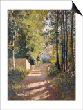 Allee sous-bois en Normandie, 1882 Prints by Gustave Caillebotte