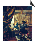 The Art of Painting (The Artist's Studio). About Um 1666/68 Prints by Jan Vermeer