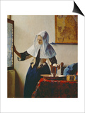 Young Woman with Jug of Water at the Window, about 1663 Art by Jan Vermeer