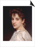 Portrait of Gabrielle Drienza, 1890 Art by William Adolphe Bouguereau