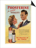 Phosferine, Magazine Advertisement, UK, 1950 Prints