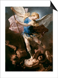 St. Michael, about 1663 Prints by Luca Giordano