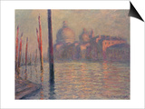 Santa Maria della Salute and the Canale Grande, Venice, 1908 Poster by Claude Monet