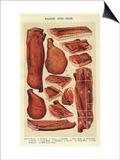 Bacon and Ham, Isabella Beeton, UK Prints