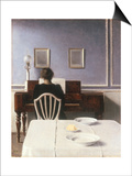 Interior with a Girl at the Clavier, 1901 Prints by Vilhelm Hammershoi