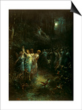 Midsummer Night's Dream Posters by Gustave Doré