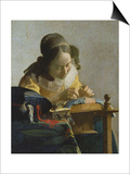 The Lacemaker, about 1665 Posters by Jan Vermeer