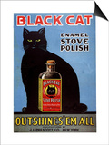 Cats Black Cat Enamel Stove Polish Products, USA, 1920 Posters