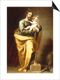 St Joseph with the Infant Christ Art by Alonso Cano