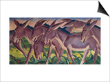 Frieze of Donkeys, 1911 Prints by Franz Marc