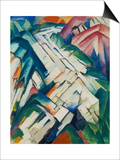 Mountains (Formerly Landscape), 1911/12 Poster by Franz Marc