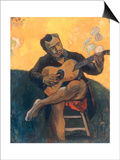 Le Joueur de Guitare, c.1894 Print by Paul Gauguin