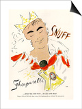 Schiaparelli Snuff, Mens Fragrance Cologne, USA, 1950 Prints