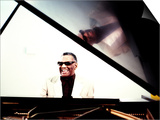Ray Charles in the Studio at RPM International, Los Angeles Poster