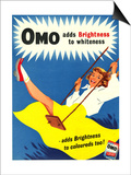 Omo, Washing Powder Products Detergent, UK, 1950 Prints