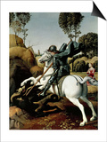 Saint George and the Dragon, 1504-1506 Prints by  Raphael