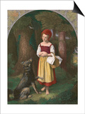 Red Riding Hood: 'Rothkaeppchen' Print by Eduard Steinbruck