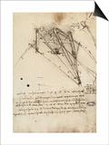 The Rudder of a Wing, Institut De France, Paris Prints by  Leonardo da Vinci
