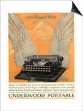 Underwood Portable Typewriters Equipment, USA, 1922 Prints