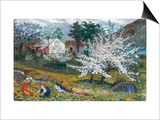Apple Trees in Bloom Poster by Nikolai Astrup
