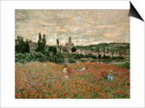 Mohnfeld Bei Vetheuil. Ca.1880 Posters by Claude Monet