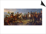 Napoleon Bonaparte at the Battle of Austerlitz Prints by Francois Gerard