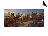 Napoleon Bonaparte at the Battle of Austerlitz Prints by Francois Gerard