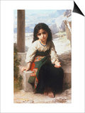 Petite Mendiante, 1880 Posters by William Adolphe Bouguereau