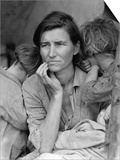 The Migrant Mother, c.1936 Poster af Dorothea Lange