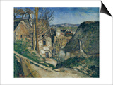 The House of the Hanged Man in Auves, c.1872 Prints by Paul Cézanne