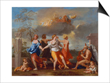 Il Ballo Della Vita Humana (A Dance to the Music of Time), 1638-1640 for Clemens Ix Posters by Nicolas Poussin