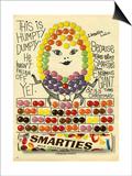 1960s UK Smarties Magazine Advertisement Prints